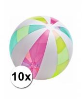 10 neon strandballen groot 107 cm trend