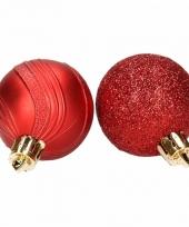 10 rode kerstballen glitter en mat trend