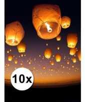 10 stuks voordeel wensballonnen 50 x 100 cm trend
