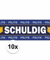 10 x schuldig stickers voor politie agent kostuum trend