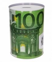 100 euro biljetten spaarpot 22 cm trend