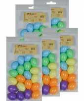 100x gekleurde kunststof eieren decoratie 4 cm hobby trend
