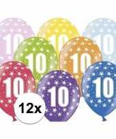 10e verjaardag ballonnen met sterretjes 12x trend