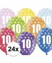 10e verjaardag ballonnen met sterretjes 24x trend