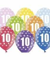 10e verjaardag ballonnen met sterretjes trend