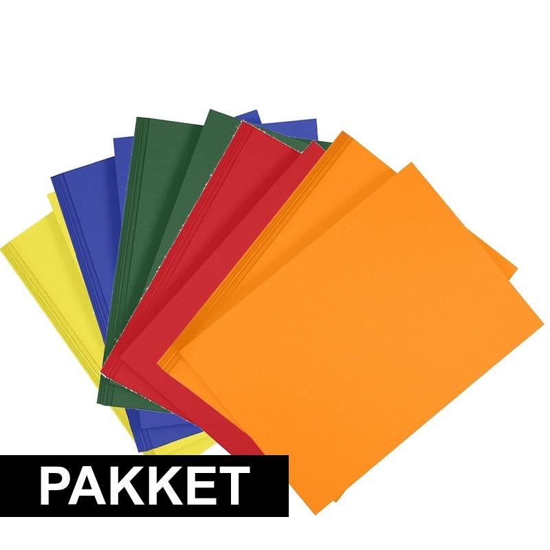 10x a4 hobby karton geel donkergroen blauw oranje rood trend