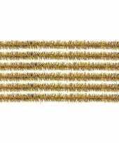 10x chenilledraad goud 50 cm trend