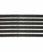 10x chenilledraad zwart 50 cm trend