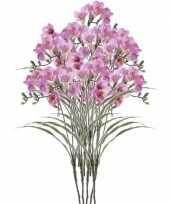 10x freesia empera kunstbloemen lila 63 cm trend