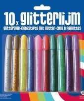 10x glitter lijm diverse kleuren trend