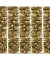10x gouden kerstslingers 270 cm kerstboom versieringen trend