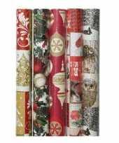 10x kerst inpakpapier met prints 70 x 200 cm trend