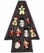 10x kersthangers kerstfiguurtjes van glas 8 cm trend