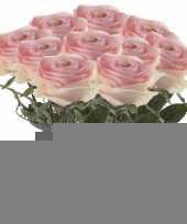 10x licht roze rozen simone kunstbloemen 45 cm trend
