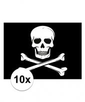 10x piraten thema stickers 7 5 x 10 cm trend