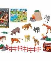 10x plastic safari wilde dieren speelgoed figuren voor kinderen trend