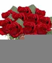 10x rode rozen kunstbloemen 30 cm trend