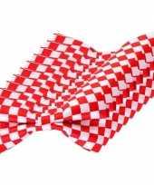 10x rood wit geblokte brabant vlinderstrikjes 12 cm dames heren trend
