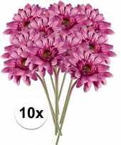 10x roze gerbera kunstbloemen 47 cm trend