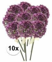10x roze paarse sierui kunstbloemen 70 cm trend
