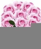 10x roze rozen carol kunstbloemen 37 cm trend
