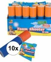 10x speelgoed waterpistool van foam 15 cm trend
