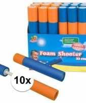 10x speelgoed waterpistool van foam 33 cm trend