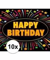 10x verjaardag wenskaart happy birthday trend