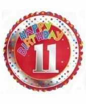11 jaar helium ballon happy birthday trend