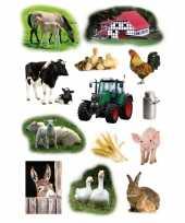 117x boerderij dieren stickers trend