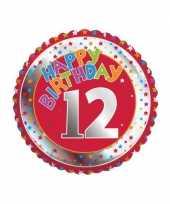 12 jaar helium ballon happy birthday trend
