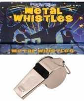 12 x metalen scheidsrechter fluitjes trend
