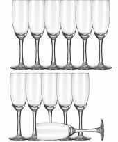 12x champagneglazen flutes transparant 170 ml claret trend