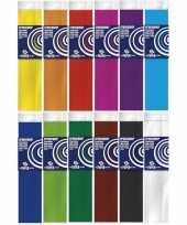 12x crepe papier basis pakket 250 x 50 cm knutsel materiaal trend