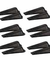 12x deurstopper deurwig kunststof zwart trend
