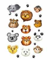 12x dierentuin dieren stickers 3d effect trend