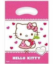 12x hello kitty themafeest feestzakjes 23 cm trend