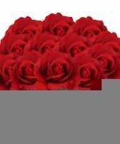 12x kunstbloem roos carol rood 37 cm trend