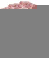 12x licht roze rozen simone kunstbloemen 45 cm trend