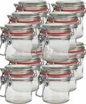12x mini weckpotten inmaakpotten 100 ml met beugelsluiting trend