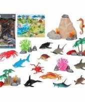 12x plastic oceaan dieren speelgoed figuren voor kinderen trend