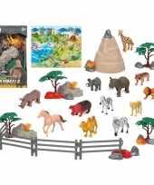 12x plastic safari wilde dieren speelgoed figuren voor kinderen trend