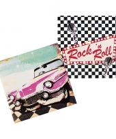 12x rock n roll servetten 33cm trend