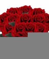 12x rode rozen deluxe kunstbloemen 31 cm trend
