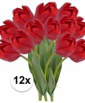 12x rode tulp kunstbloemen 48 cm trend