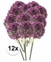12x roze paarse sierui kunstbloemen 70 cm trend