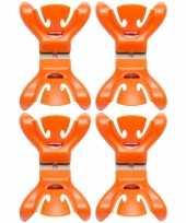 12x slingers decoratie ophangen slingerklemmen oranje trend