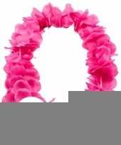 12x tropical krans neon roze trend