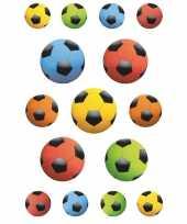 135x gekleurde voetballen stickers trend