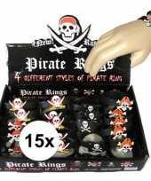 15x piraten armbandjes voor kinderen trend